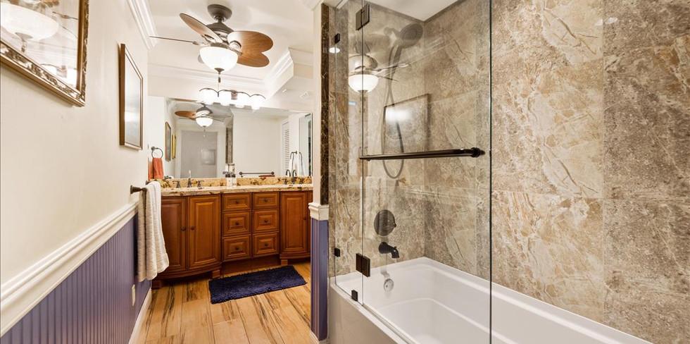 Master Bathroom with New Shower Bath & T