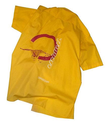 """Tamra Tigers"" - Up-cycled ""Deutsche Post"" Shirt"