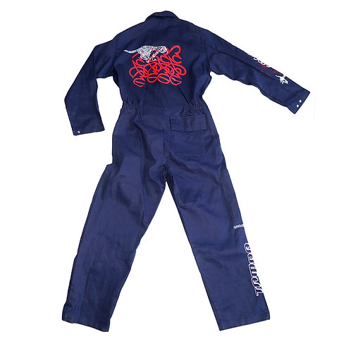 """Tamra Tigers"" - Upcycled ""Dickies""Jumpsuit"