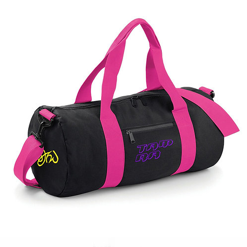 Duffle Bag Black with Fuchsia