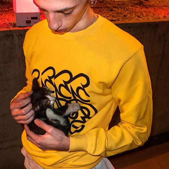 DRO wearing Tamra with a Kitten