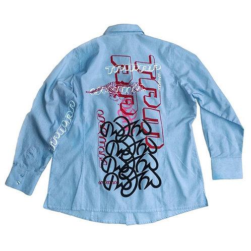 """TAMRA Tigers"" - Powder Blue ""Aldi"" Shirt. Unique Item"