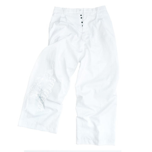 """TAMRA Tigers"" - White on White Pants"