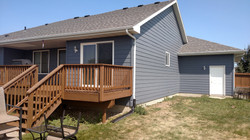 After-House painted & stained decks