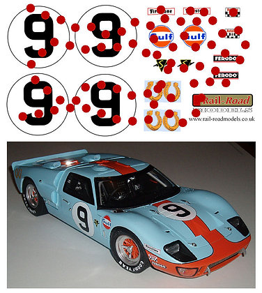 Trumpeter 1/12 Ford GT40 GULF conversion decals