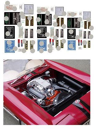 1/8 Corvette Stingray engine decals