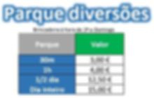 Preços Parque Diversões Bigfun