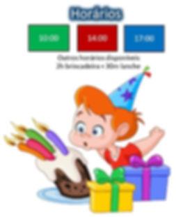 Horários Festas Aniversário Bigfun