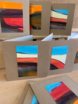 Mini Landscape Original Art Cards - Summer