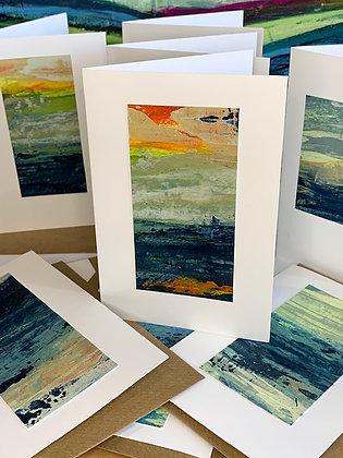 Mini Landscape Original Art Card - Sea and Sky