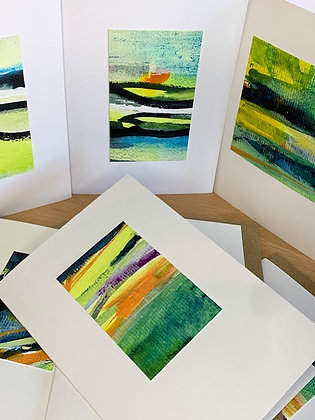 Mini Landscape Original Art Card - Citrus