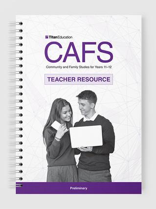 Preliminary CAFS Teacher Resource