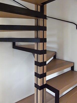 gagno officina fabbrile treviso scala ferro legno moderna corrimano chiocciola nordica design