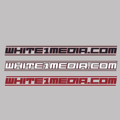 White1Media.com - decal