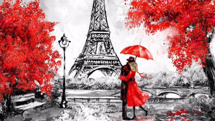 Паровоз анимация, французская открытка мелодия