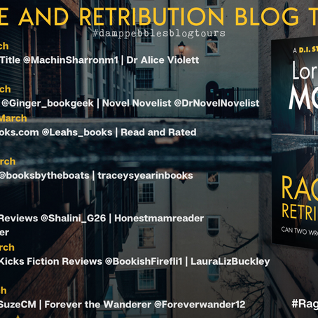 BOOK REVIEW - BLOG TOUR Rage & Retribution (DI Sterling #4) by Lorraine Mace