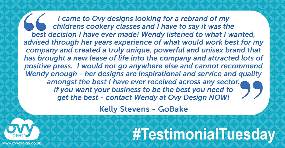 Quote from Kelly at Go Bake