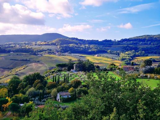 View from Villa Martiena