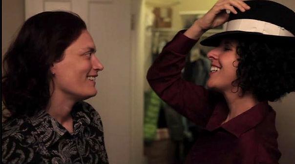 """Nadine"" and ""Miriam,"" stars of short film Hatboxes"