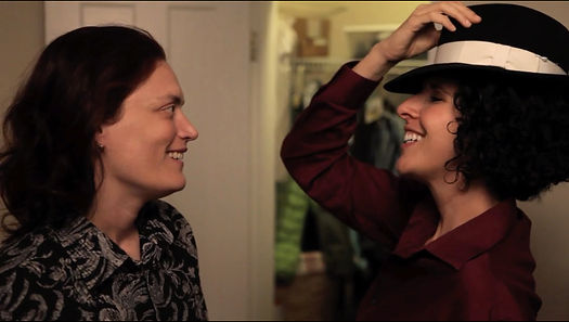 """""""Nadine"""" and """"Miriam,"""" stars of short film Hatboxes ... """"You wear that hat."""""""