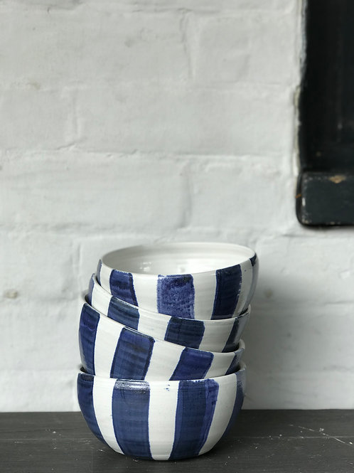 Blue brushed breakfast bowl by Anna Sandberg