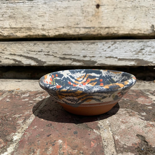 Hand Painted Stoneware Tiny Bowl