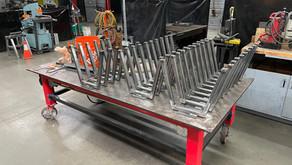 140 Metal frames on the way to Angola