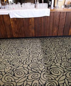 pub floor during clean