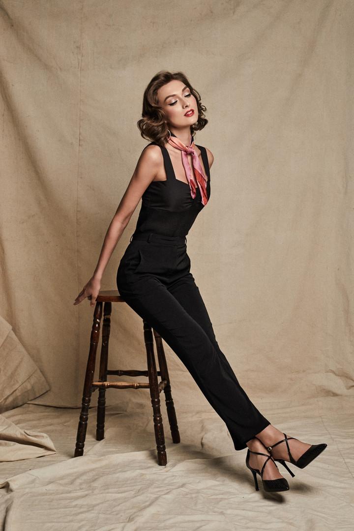 Emily Top + Stella Pants in Black