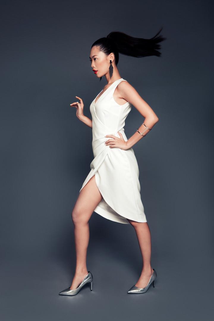Rachel Dress in Off-white