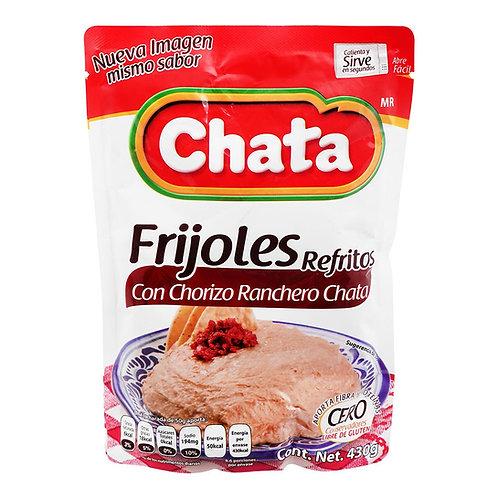 Frijoles refritos con chorizo ranchero Chata 430g