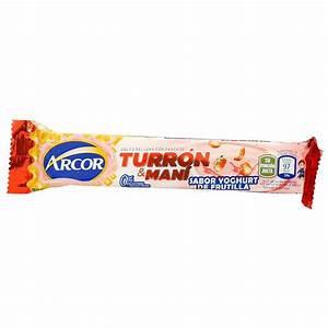 Turron Arcor Mani con Frutilla - Nougat slab strawberry yogurt