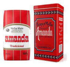 amanda tin for yerba mate red original design from 1930