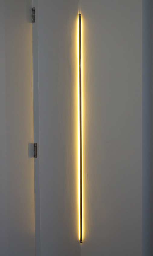 floating integrated light line in the wall...