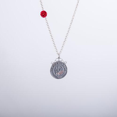 Calavera Necklace In Oxidised Silver