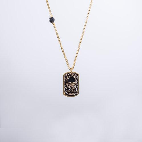 Calaverita Necklace In Gold