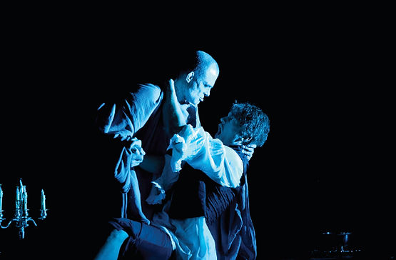 Jud Arthur as Commendatore and Teddy Tahu Rhodes as Don Giovanni.