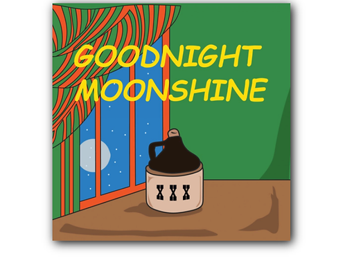 Goodnight Moon Pun Canvas Print (8 x 8 inches)