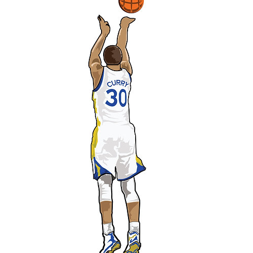 Steph Curry Warriors Sticker