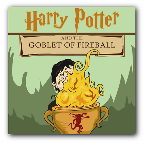 Harry Potter Pun Canvas Print (8 x 8 inches)