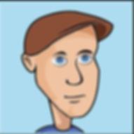 Digital self portrait of Ed Yevelev, done in Adobe Illustrator