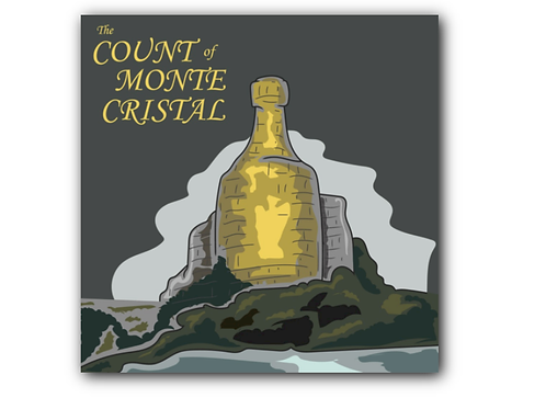 Count of Monte Cristo Pun Canvas Print (8 x 8 inches)