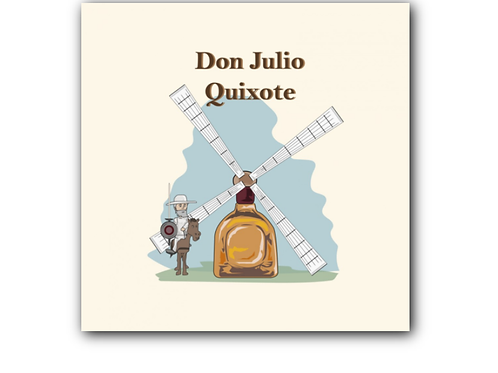 Don Quixote Pun Canvas Print (8 x 8 inches)