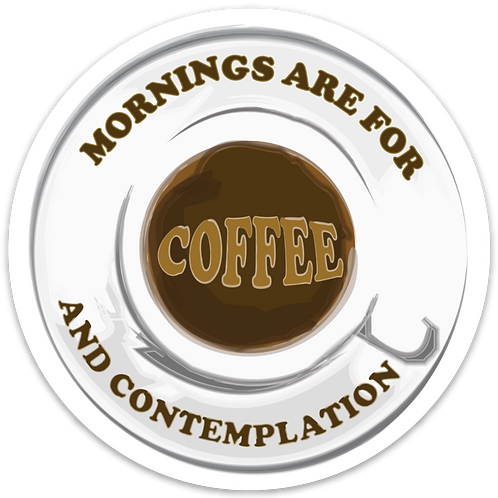 Stranger Things Sticker - Mornings Are For Coffee and Contemplation