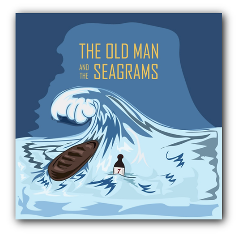 Old Man and the Sea Pun Canvas Print (8 x 8 inches)