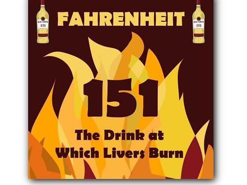 Fahrenheit 451 Pun Canvas Print (8 x 8 inches)