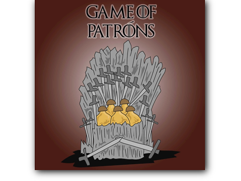 Game of Thrones Pun Canvas Print (8 x 8 inches)