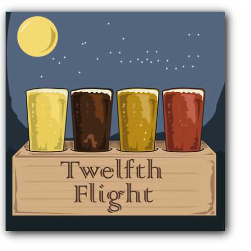 Twelfth Night Pun Canvas Print (8 x 8 inches)
