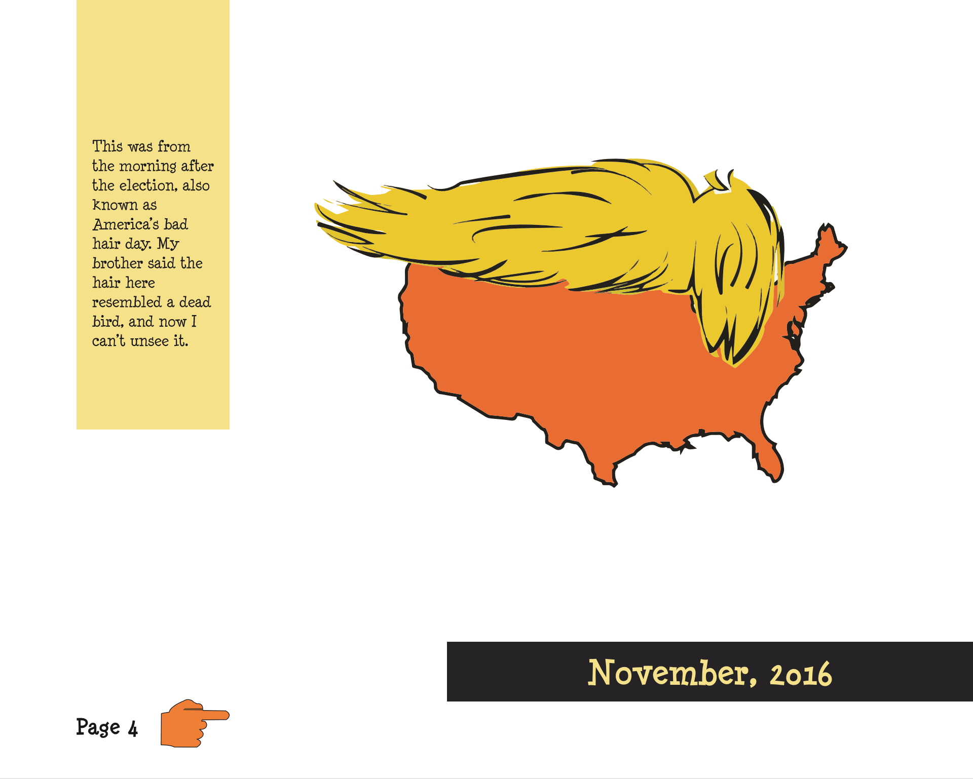 Trump Cartoon Book Inside Page