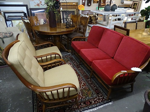 Heywood Wakefield Couch + 2 Chair Set
